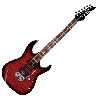 Ibanez grx70qa transparent red burst