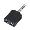 Master audio hy1740 2x 6,3 mm jack -> 6,3 jack